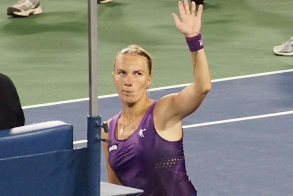 Western and Southern Open Svetlana Kuznetsova  victory wave funny look