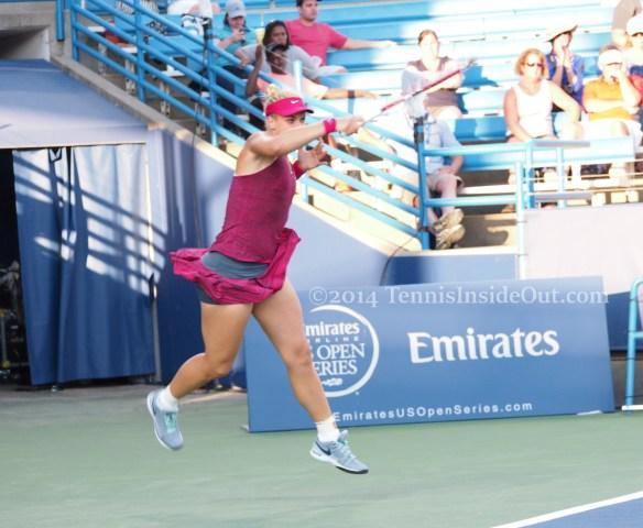 Sabine Lisicki leaping forehand Cincinnati premier tennis