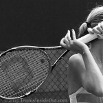 Awesome artistic photo Petra Kvitova Cincinnati Premier tennis forehand follow through hands in front of eyes black and white pics Wilson racquet photos