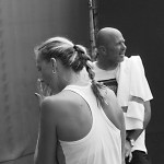 Petra Kvitova coach David Kotyza photos Cincinnati Premier tennis practice 2015 black white braid