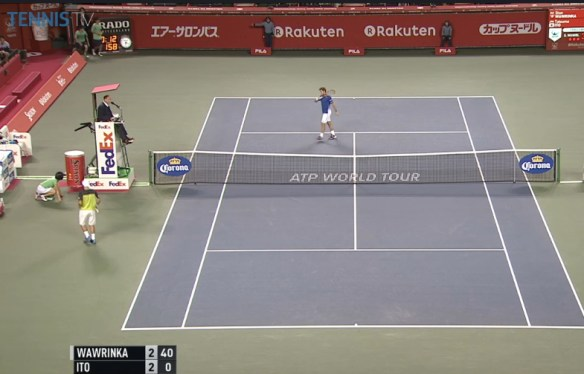 Stan Wawrinka Tatsumo Ito changeover Japan Open