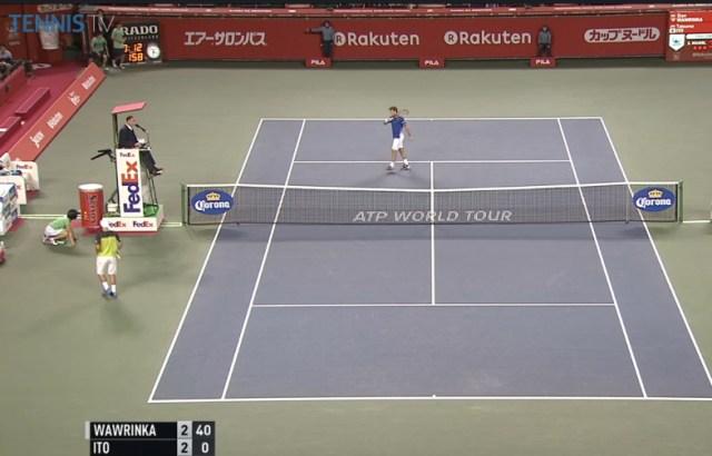 Stan Wawrinka Tatsumo Ito changeover Japan Open