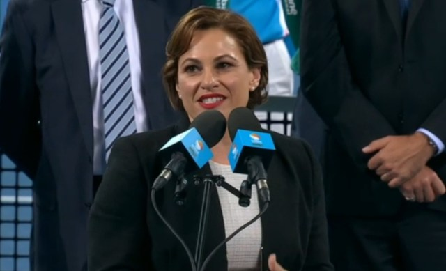 Premier Jackie Trad speech trophy ceremony Brisbane final 2016