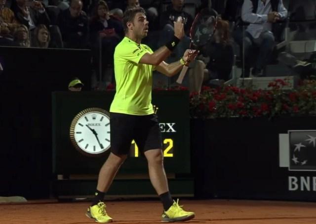 Stan racquet clap Rome Masters