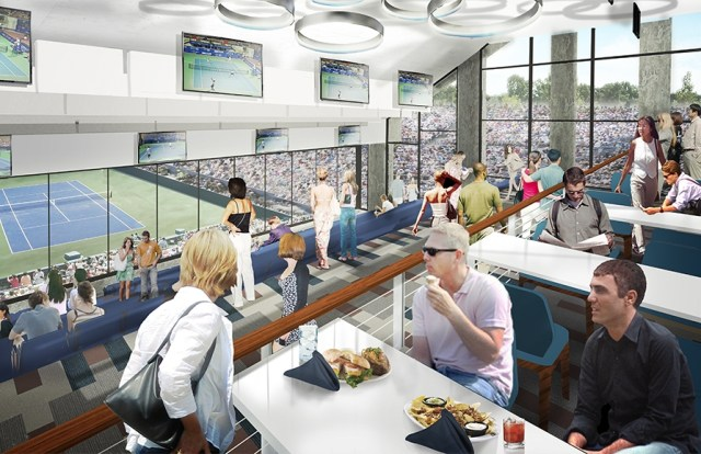 Western and Southern Open new South building 2nd floor restaurant box seats interior photos