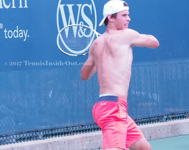 Domi Thiem sexy back muscles shoulder blades cute bubble butt sexy ass pics