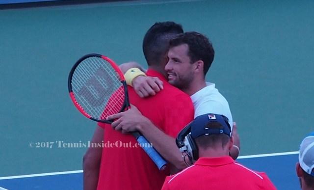 bromance hug NK Grisha Dimitrov Kyrgios embrace