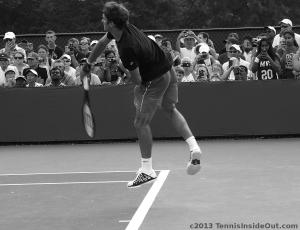 Roger Federer full leap serve jump tight shorts sexy arse hot butt air Fed airborne pics