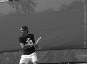 Maestro forehand follow-through tennis black and white photography