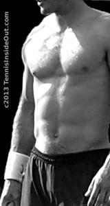Tommy Haas shirtless torso abs black & white bulge chiseled pecs arms tennis photos