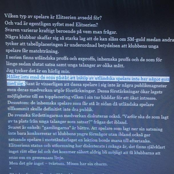 """""""Håller inte med de som påstår att inköp av utländska spelare inte har något gott med sig."""" - Jonas Arnesen."""