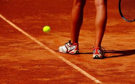 summer heat on tennis court
