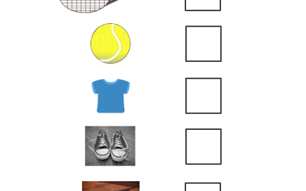 Tennis Equipment List