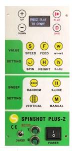 Spinshot Plus 2 Control Panel