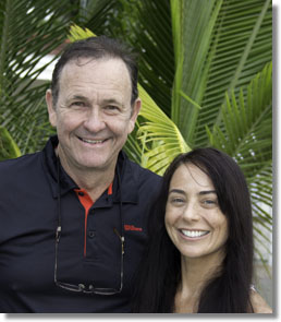 Cliff and DiAnna Drysdale at Hawk's Cay Resort, Duck Key, Florida