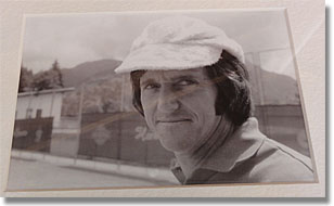 Roy Emerson photo from 1974 at Gstaad, Switzerland