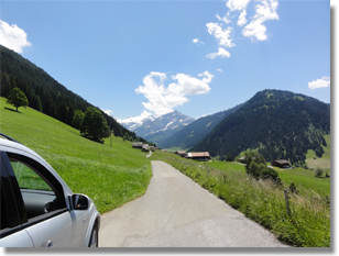 "A ""highway"" in Switzerland, above Gstaad toward Turbach"