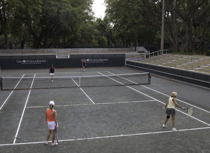 Sunken Center Court at Omni Amelia Island Plantation's Racquet Park