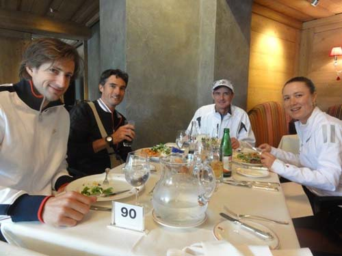Lunch with pros during Roy Emerson Tennis Week in Gstaad, Switzerland