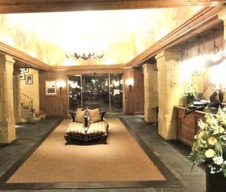 Lobby of Gstaad palace, Switzerland