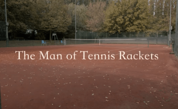 The man of tennis rackets