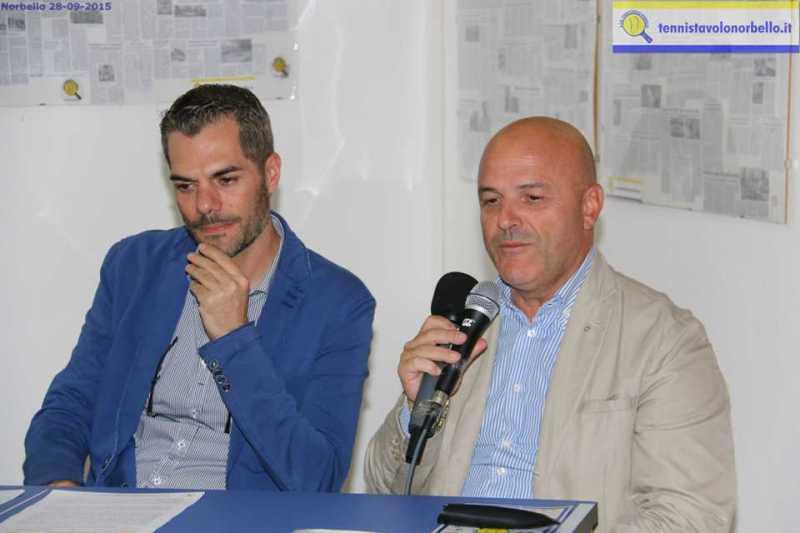 Il presidente Simone Carrucciu con Paolo Poddighe presidente regionale Cip Sardegna (Foto Gianluca Piu)