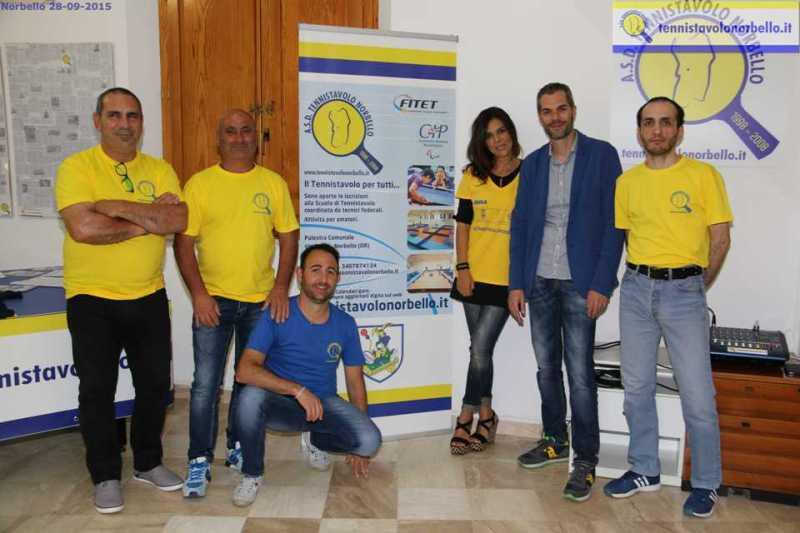 Staff dirigenziale del Tennistavolo Norbello (Foto Gianluca Piu)