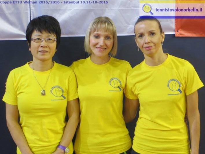 Il trio femminile impegnato a Istanbul
