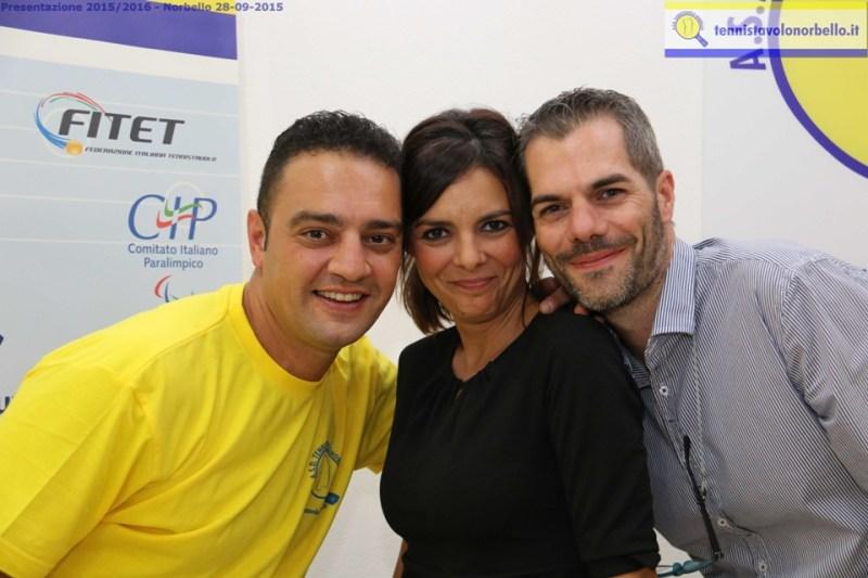Trio giallo-blu Mondello, Oriana e Simone