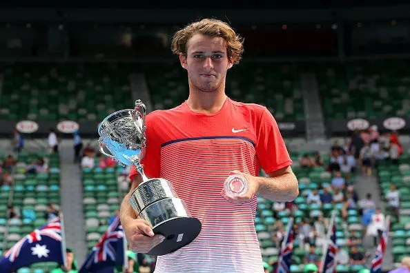 AO Junior Champion charged