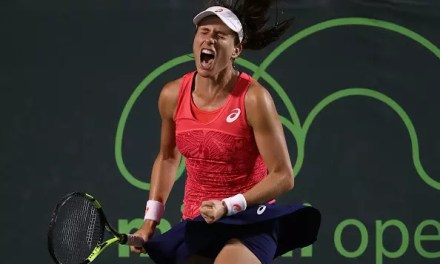 Konta squeezes through