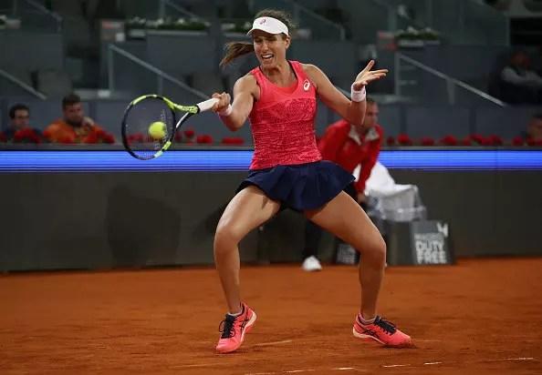 Johanna Konta suffers first-round defeat in Madrid