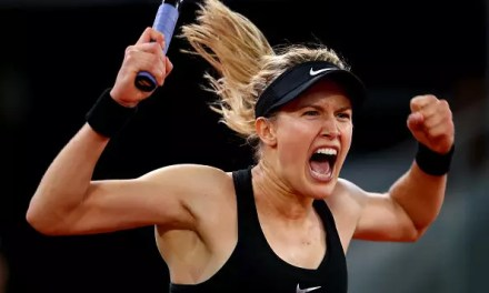 Eugenie Bouchard sees off Maria Sharapova in marathon three-setter