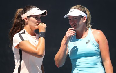 Melbourne | Robson loses doubles but feels on track
