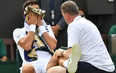 Wimbledon   Djokovic suffers injury scare