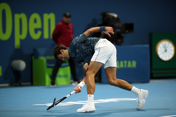 Doha | Djokovic loses – and his rag