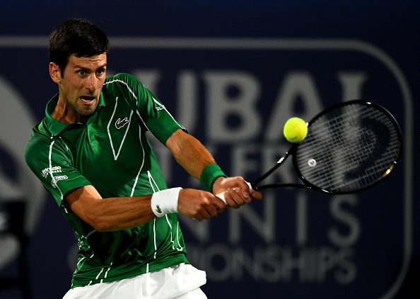 Dubai | Djokovic scrambles into final while Evans' run ends