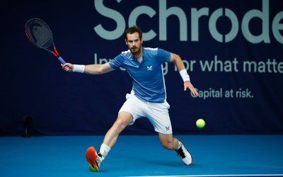 Andy Murray makes a successful return