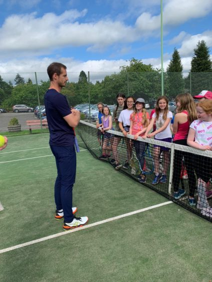 Murray visits Dunblane and receives a US Open wildcard