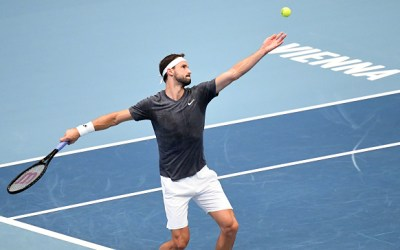 Dimitrov ousts Tsitsipas to face Evans in Vienna's last eight.