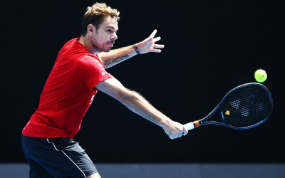 Wawrinka overcomes nervy start and Kyrgios flares up