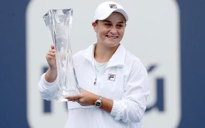 Barty successfully defends Miami title as Andreescu retires