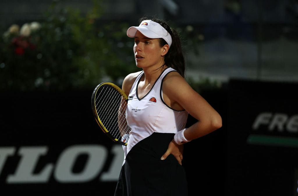 Konta follows Bencic and Mertens out of Rome