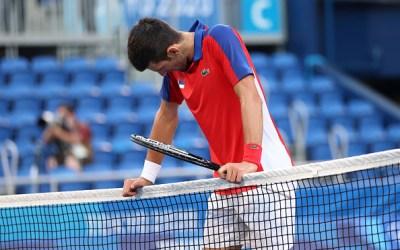 Djokovic leaves Tokyo empty-handed
