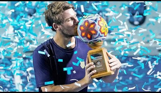 Norrie lifts his first ATP title.