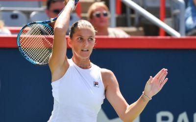 Pliskova upsets Sabalenka to set up Giorgi final in Montréal