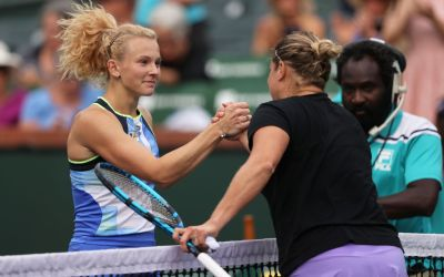 Clijsters falls at Indian Wells, Garcia and Sevastova among those to advance