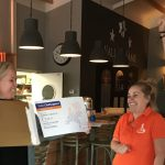 TVNV ontvangt cheque  Rabobank Clubsupport