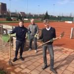 De tennisbanen en sportkantine zijn er bijna klaar voor