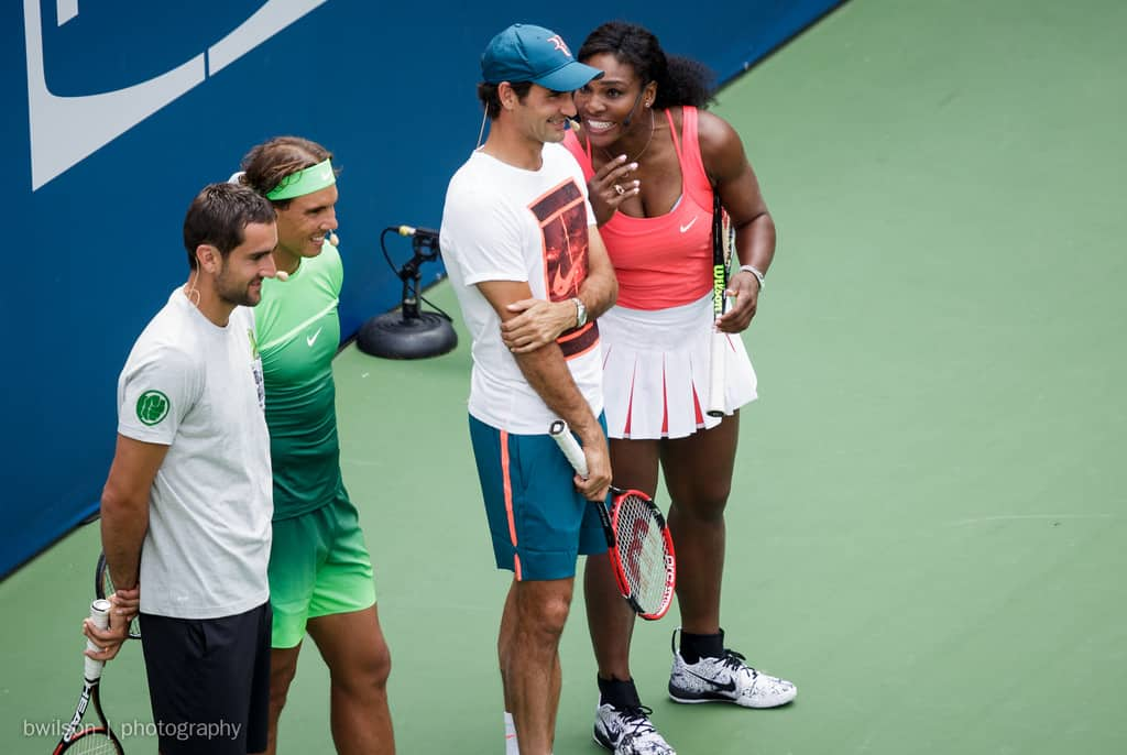 'What An Honour': Federer And Williams Meet On Court For First Time